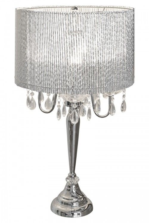 Beaumont Four Light Silver Tube Sparkling Table Lamp