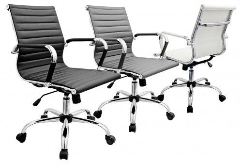 Designer Office Chair - Available in Black, White or Grey