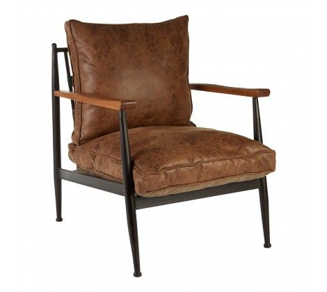 Foundry Distressed Brown Armchair