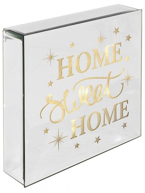 Light Up Mirrored Home Sweet Home Plaque