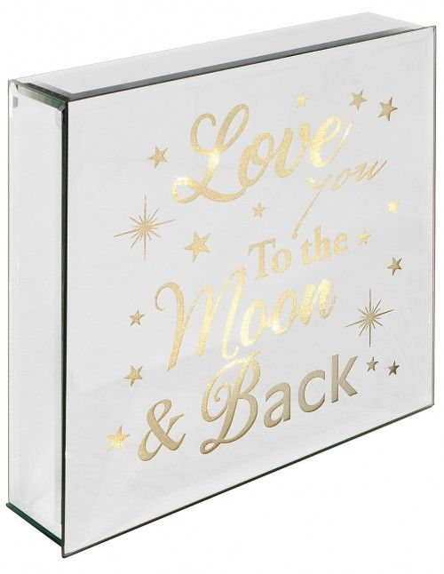 Light Up Mirrored Love You To The Moon & Back Plaque