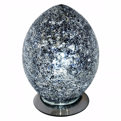 Medium Mosaic Egg Lamps - Various Colours