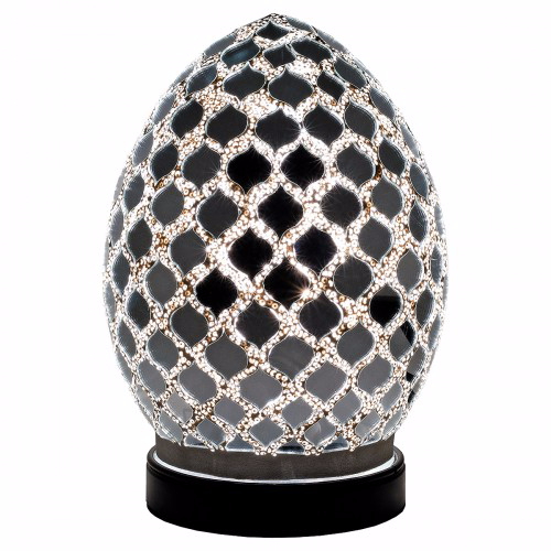 Mini Mosaic Egg Lamp - Various Colours