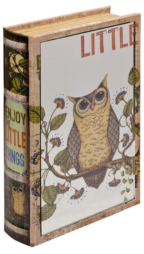 Mirrored Enjoy The Little Things Owl Book Box