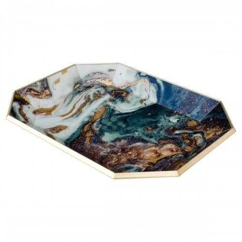 Octagon Serving Tray- Emerald Agate