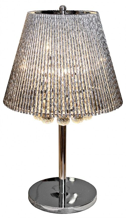 Silver Tube Table Lamp