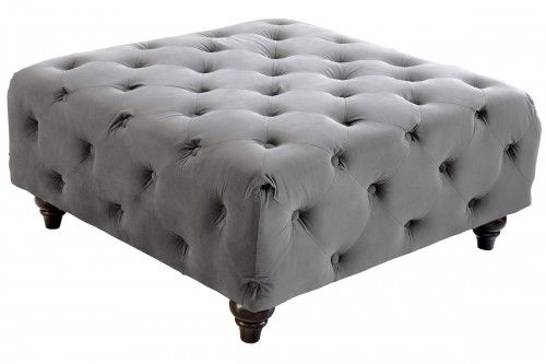 Square Velvet Footstool - Available in Various Colours