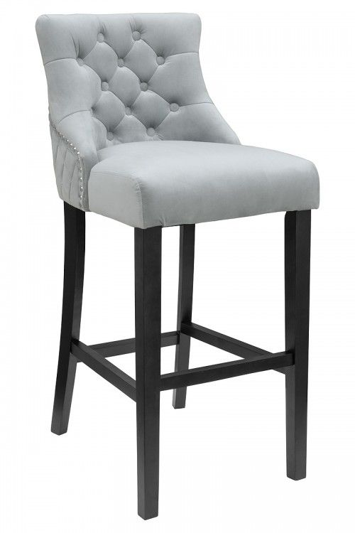 Victoria Fabric Bar Stool - Velvet Fabric