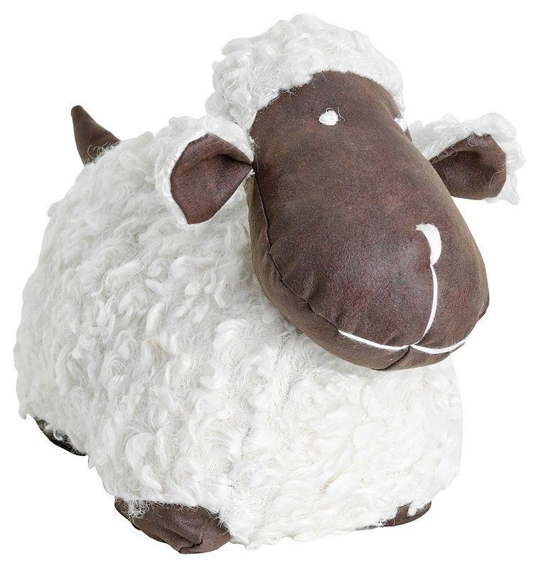 White Sheep Door Stop