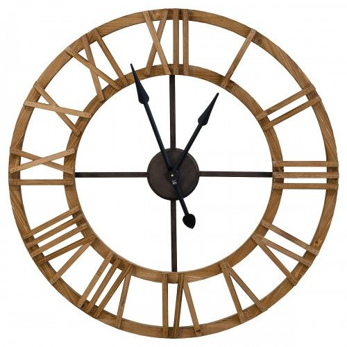 Wooden Roman Numerals Wall Clock